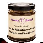 gem de rabarbar cu vanilie BioShopRomania.com