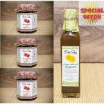 OFFER 3 jars Strawberry jam + 1 Syrup Dandelion Syrup