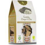 Crackers vegani cu seminte de canepa BioShopRomania.com