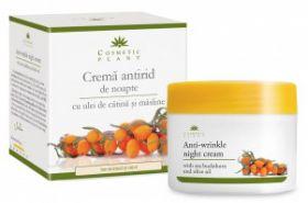 Crema Antirid noapte cu ulei catina si masline BioShopRomania.com