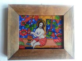 Jesus with vines 14x18 cm BioShopRomania.com