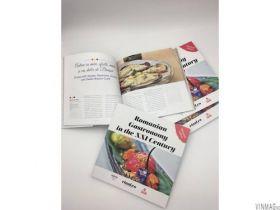 Carte de gastronomie, Gastronomia romaneasca in secolul XXI, editata de revista Vinul, editie bilingva
