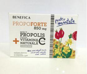 Comprimate naturale cu propolis si vitamina C propoforte 850mg BioShopRomania.com