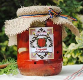 Peppers in vinegar Sarata Monteoru