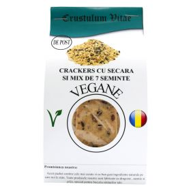 Raw vegan crackers lightly salt and mix with 7 rye seed 150g