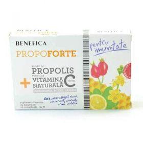 Comprimate naturale cu propolis si vitamina C propoforte benefica BioShopRomania