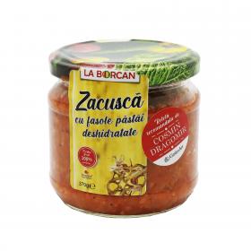Zacusca de fasole pastai rehidratate cu vin alb La Borcan, 310g