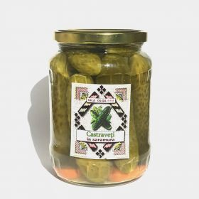 Pickled cucumbers in brine Sarata Monteoru 400g