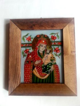 Saint Mary and child 2 20x16 cm BioShopRomania.com
