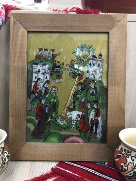 icoana taraneasca Nasterea Domnului