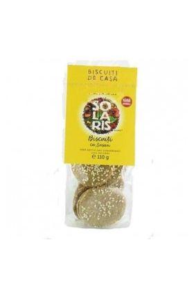 Biscuits with sesame 110g, SOLARIS BioShopRomania.com