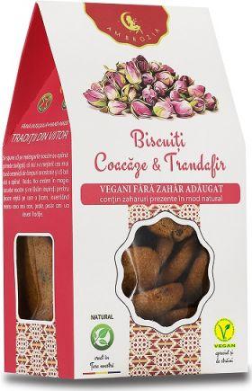 Biscuiti vegani cu Coacaze si Trandafiri BioShopRomania magazin online produse bio naturale