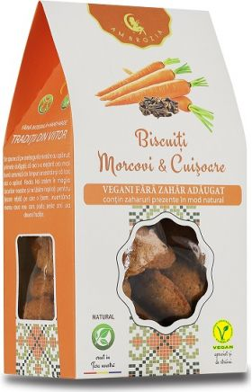 Biscuiti vegani cu Morcovi si Cuisoare BioShopRomania magazin online produse bio naturale