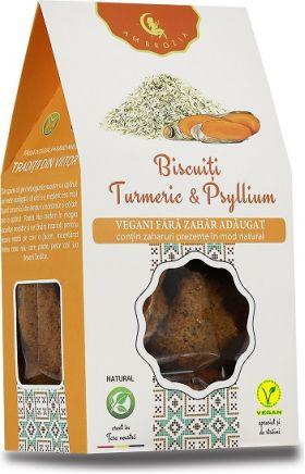 Vegan digestive biscuits with turmeric BioShopRomania.com