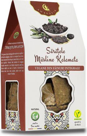 Crackers vegani cu masline kalamata BioShopRomania.com