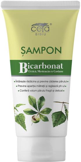 Sampon cu Bicarbonat, Urzica, Mesteacan si Castane 200ml Ceta Sibiu BioShopRomania