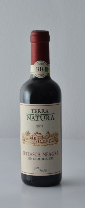 Bio red wine Feteasca Neagra 375ml BioShopRomania.com